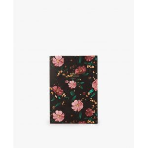 Cahier Black Flowers Wouf